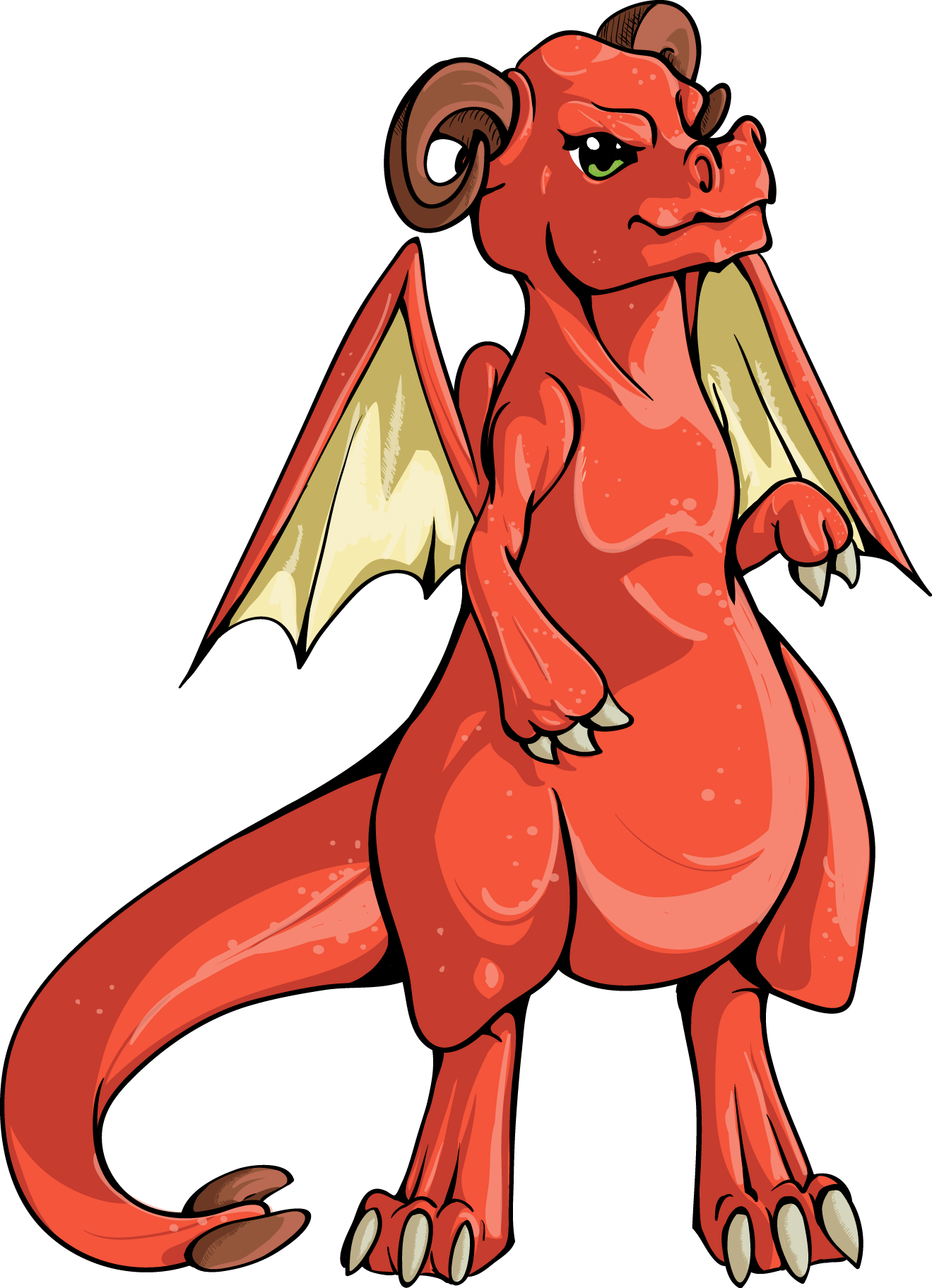 Red female dragon